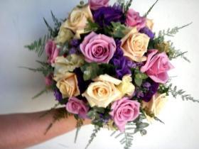 chic coloured bouquet