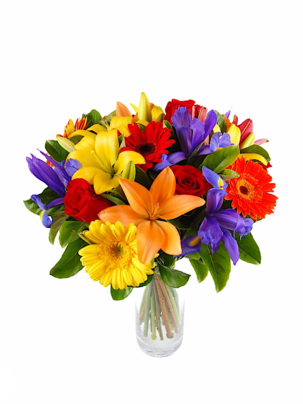 Delightful Bouquet Includes Vase