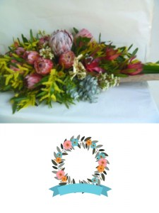 Native Casket Arrangement