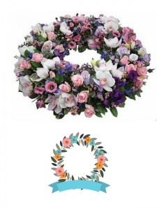 Large Pink & White Wreath