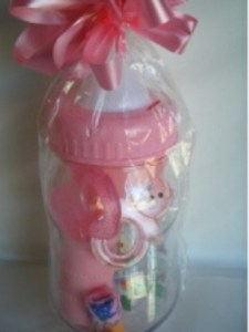Money Box/ Bottle Baby Girl Gift Pack