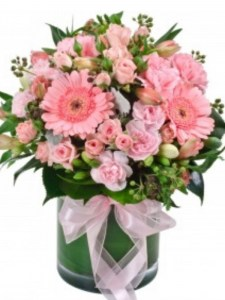 Pretty Pink Posie Including Vase