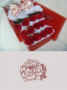 12 Beautiful Long Stem Roses in Red Box