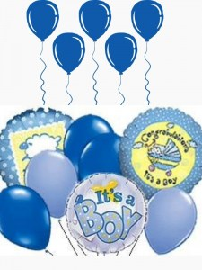 Its A Baby Boy Balloon Bouquet