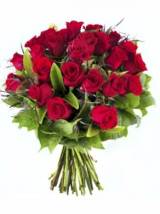 24 Romantic Red Roses