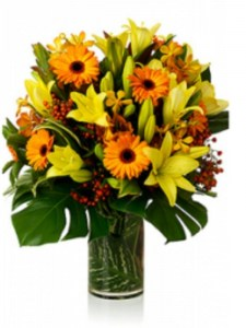 Earthy Toned Bouquet Including Vase