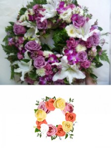 Large Pink & White Round Wreath