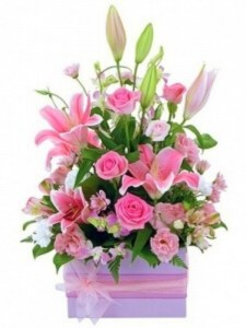 Super Large Pink Box Arrangement