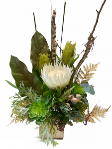 White Silk King Arrangement