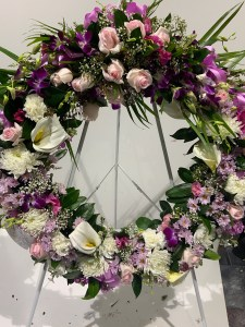 Mauve Floral Wreath