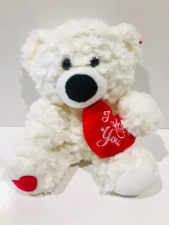 Billy White Teddy Bear
