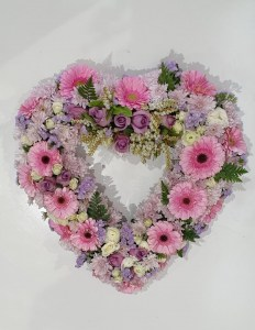 Pink Open Heart Wreath
