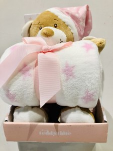 Lucy Pink Teddy Bear Gift Pack