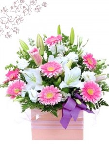 Pretty Pink Large Box Arrangement