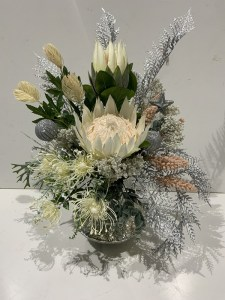 Silver Everlasting Dried Arrangemet